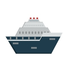 Ship transportation vehicle icon graphic vector
