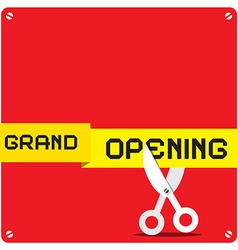 Grand Opening Red Square with Rounded Corners and vector image
