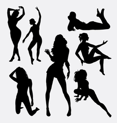 Sexy girl female silhouette vector