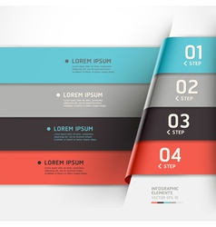 Modern step options banner vector image