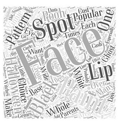Face painting pattern word cloud concept vector