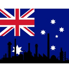 Industry and flag of Australia vector image