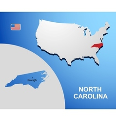 North Carolina vector image