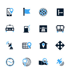 Navigations icon set vector