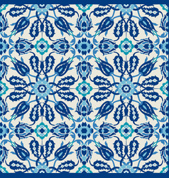 arabesque lace damask seamless floral pattern vector image