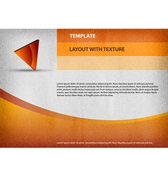 Template orange curve vector