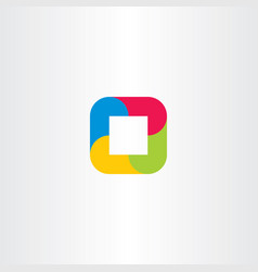 Gometric logo abstract square business icon vector