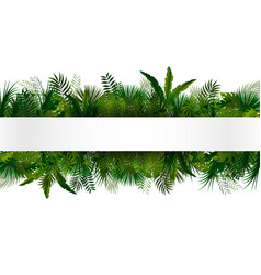 Tropical foliage floral design background vector