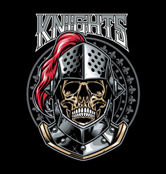 Skull of knight warrior vector