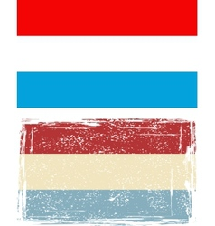 Luxembourg grunge flag vector image