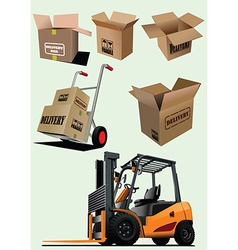 Packaging elements vector