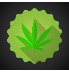 Smoking marijuana leaf ganja bad habits flat icon vector