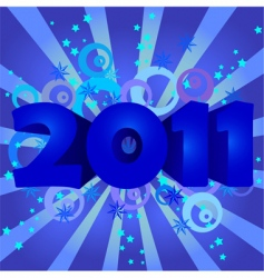 year 2011 illustration vector image