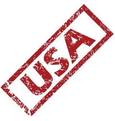 New usa rubber stamp vector