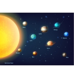 Solar system background vector
