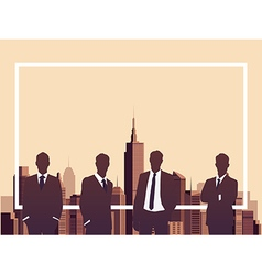 Business meeting with copyspace concept vector