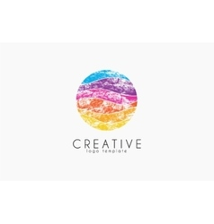 Colorful logo geometric icon technology logo vector