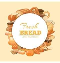 Different kinds bread background vector