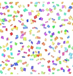 Seamless background with many confetti vector image