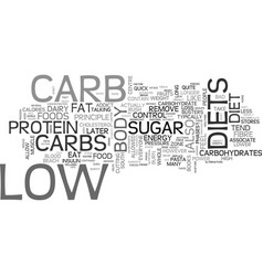 Are you ready for low carb text word cloud concept vector