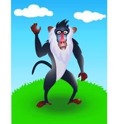baboon in the wild vector image vector image