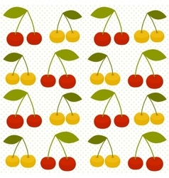 Background with cherries vector