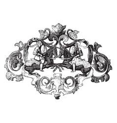 Brooch jewelry piece vintage engraving vector