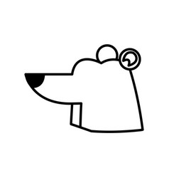 cartoon cute polar bear wild artic vector image