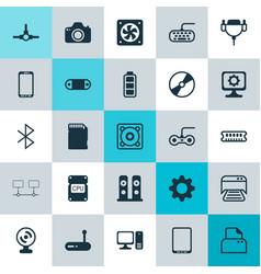 Computer icons set collection of music desktop vector