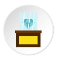 Diamond on a pedestal icon circle vector