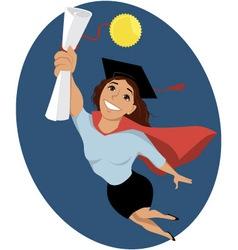 Female college graduate vector image