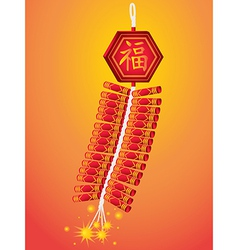 Fire Cracker of Chinese New Year vector image