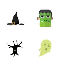 flat icon festival set of phantom monster vector image
