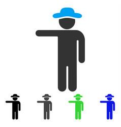 gentleman show flat icon vector image vector image