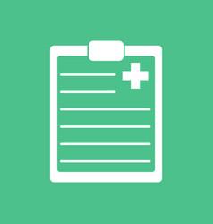 Icon medical board vector