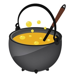 Kettle with poison vector image vector image
