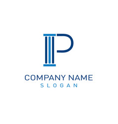 letter p law design vector image