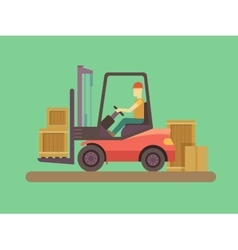Loading and unloading machine vector image vector image