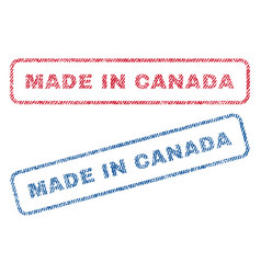 made in canada textile stamps vector image
