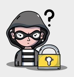 person hacker to programmer virus in the system vector image