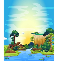 River vector image vector image