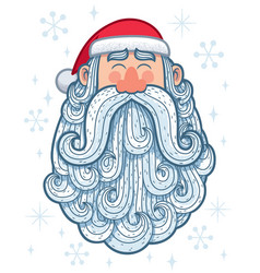 santa portrait 2 happy vector image vector image