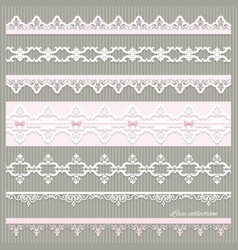 set of cute straight lace in pastel colors vector image vector image