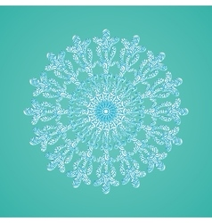 Sowflake with abstract doodle pattern Christmas vector image