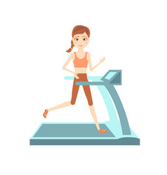sportswoman character cartoon flat vector image vector image