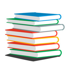 Stack books or magazines vector
