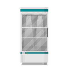 supermarket flat refrigerator vector image