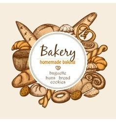 Vintage bakery frame vector