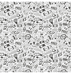 web doodles - seamless pattern vector image vector image
