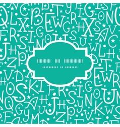White on green alphabet letters frame seamless vector